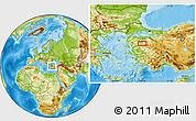 Physical Location Map of Balıkesir