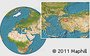 Satellite Location Map of Balıkesir