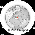 Outline Map of Balıkesir, rectangular outline