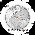 Outline Map of Kütahya, rectangular outline