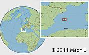 Savanna Style Location Map of El Arenal