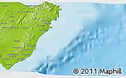 Physical 3D Map of Santa Margarita