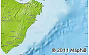 Physical Map of Santa Margarita