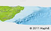 Physical Panoramic Map of María de la Salud