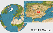 """Satellite Location Map of the area around 39°30'19""""N,3°19'30""""W"""