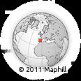 Outline Map of Madridejos, rectangular outline