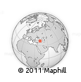 Outline Map of Karayazı, rectangular outline