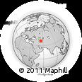 Outline Map of Balkanabat, rectangular outline