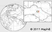 """Blank Location Map of the area around 39°30'19""""N,60°25'29""""E"""