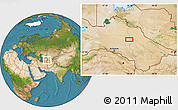 """Satellite Location Map of the area around 39°30'19""""N,60°25'29""""E"""