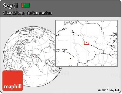 Blank Location Map of Seydi