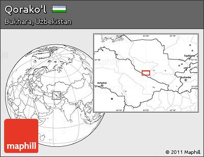 Blank Location Map of Qorako'l