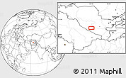 """Blank Location Map of the area around 39°30'19""""N,64°40'30""""E"""