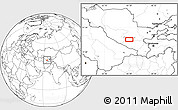 """Blank Location Map of the area around 39°30'19""""N,65°31'30""""E"""