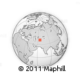 """Outline Map of the Area around 39° 30' 19"""" N, 65° 31' 30"""" E, rectangular outline"""