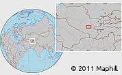 Gray Location Map of Charxin