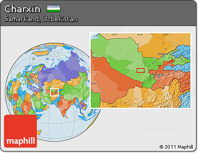Political Location Map of Charxin