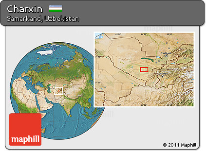 Satellite Location Map of Charxin