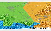 Political 3D Map of Koktash