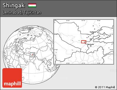 Blank Location Map of Shingak