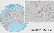 Gray Location Map of Shingak