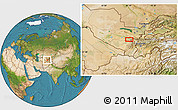 Satellite Location Map of Shingak