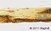 Physical Panoramic Map of Katta-Kishlak