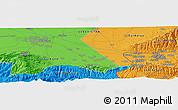 Political Panoramic Map of Koktash