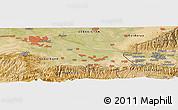 Satellite Panoramic Map of Koktash