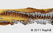 Physical Panoramic Map of Mogul