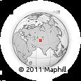 Outline Map of Navabad, rectangular outline