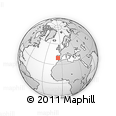 """Outline Map of the Area around 39° 30' 19"""" N, 6° 43' 29"""" W, rectangular outline"""