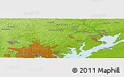 Physical Panoramic Map of Baltimore