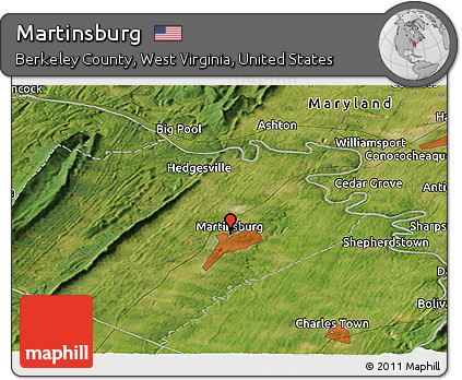 Ashton Virginia Map.Free Satellite Panoramic Map Of Martinsburg