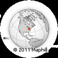 Outline Map of Hannibal, rectangular outline