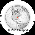 Outline Map of Reily Millville Road, rectangular outline