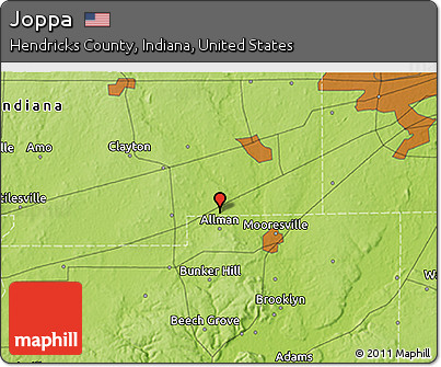 Free Physical D Map Of Joppa - Indiana physical map