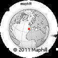 Outline Map of Fonte Da Pedra, rectangular outline
