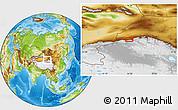 Physical Location Map of Dushanzi