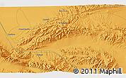 Political 3D Map of Dangchengwan