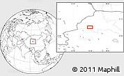 Blank Location Map of Dangchengwan