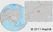 Gray Location Map of Dangchengwan
