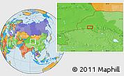 Political Location Map of Dangchengwan