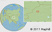 Savanna Style Location Map of Dangchengwan