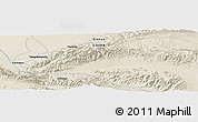 Shaded Relief Panoramic Map of Dangchengwan