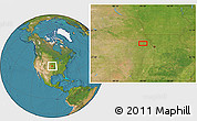 """Satellite Location Map of the area around 39°30'19""""N,95°58'29""""W"""