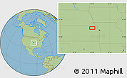 """Savanna Style Location Map of the area around 39°30'19""""N,95°58'29""""W"""