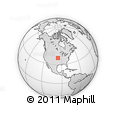 """Outline Map of the Area around 39° 30' 19"""" N, 95° 58' 29"""" W, rectangular outline"""