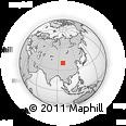 Outline Map of Liugouquan, rectangular outline