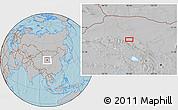 Gray Location Map of Xusanwan, hill shading